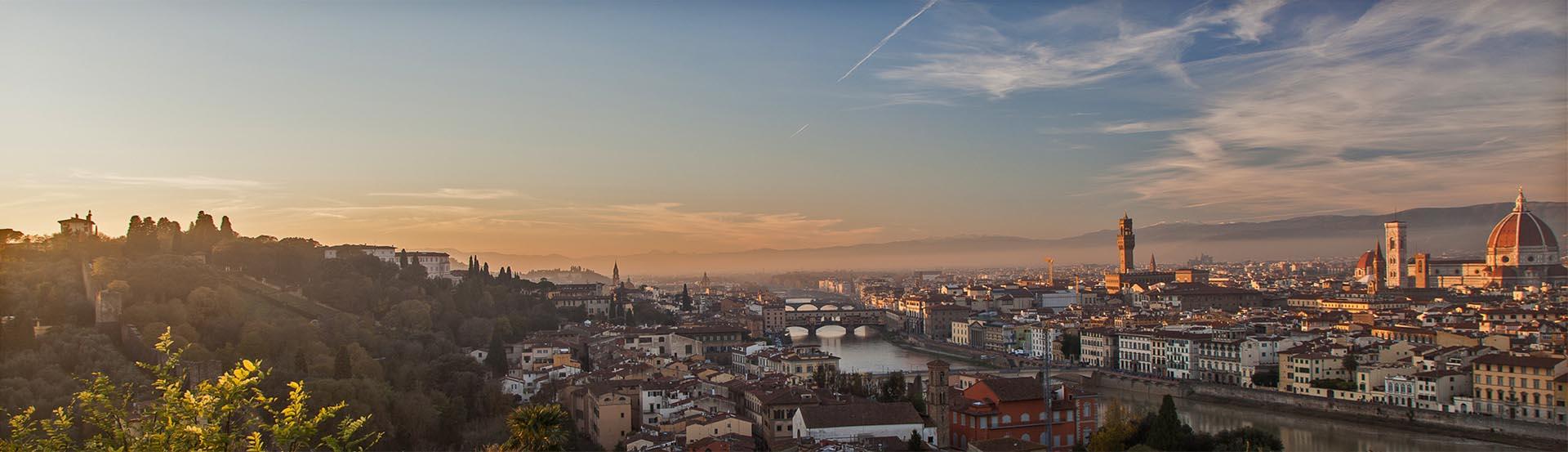 Florenz morgens, von Piazzale Michelangelo