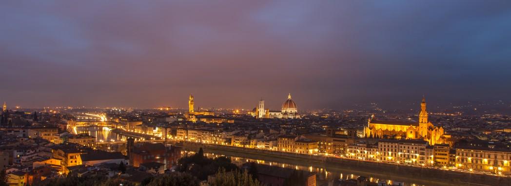 Florenz abends, von Piazzale Michelangelo